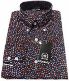 Shirt Polka Dot Swirls Mens Multi Colour - Relco