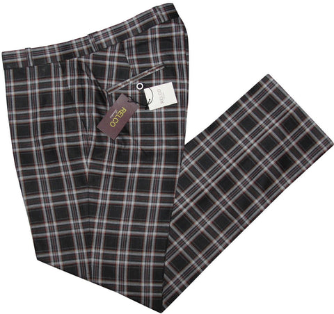 Sta Press Black Tartan Trousers