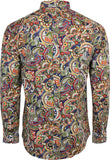 Shirt Paisley Men's Navy Blue - Relco