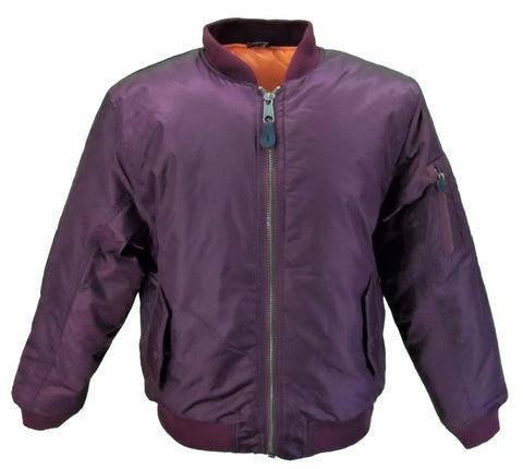 MA1 Flight Bomber Jacket Burgundy