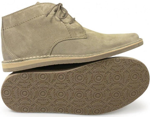 Desert Boots  – Nomad -  Beige Soft Suede by Ikon