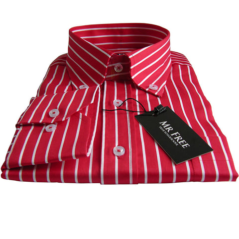 Shirt Stripe Red with White - Mr Free™