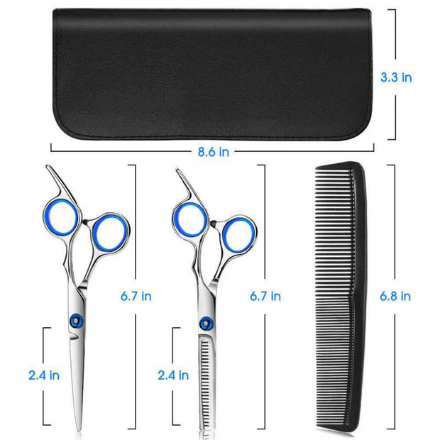 Hair Cutting Scissors Set Thinning Shears Stainless Steel Hair Cutting Kit 10 Pcs for Barber Salon Home Women Men Adults
