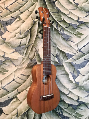 Kanile'a Natural Series Hawaiian Premium Silk Koa Soprano Ukulele with Hardshell Case Model K-1 S NATURAL - Island Bazaar Ukes