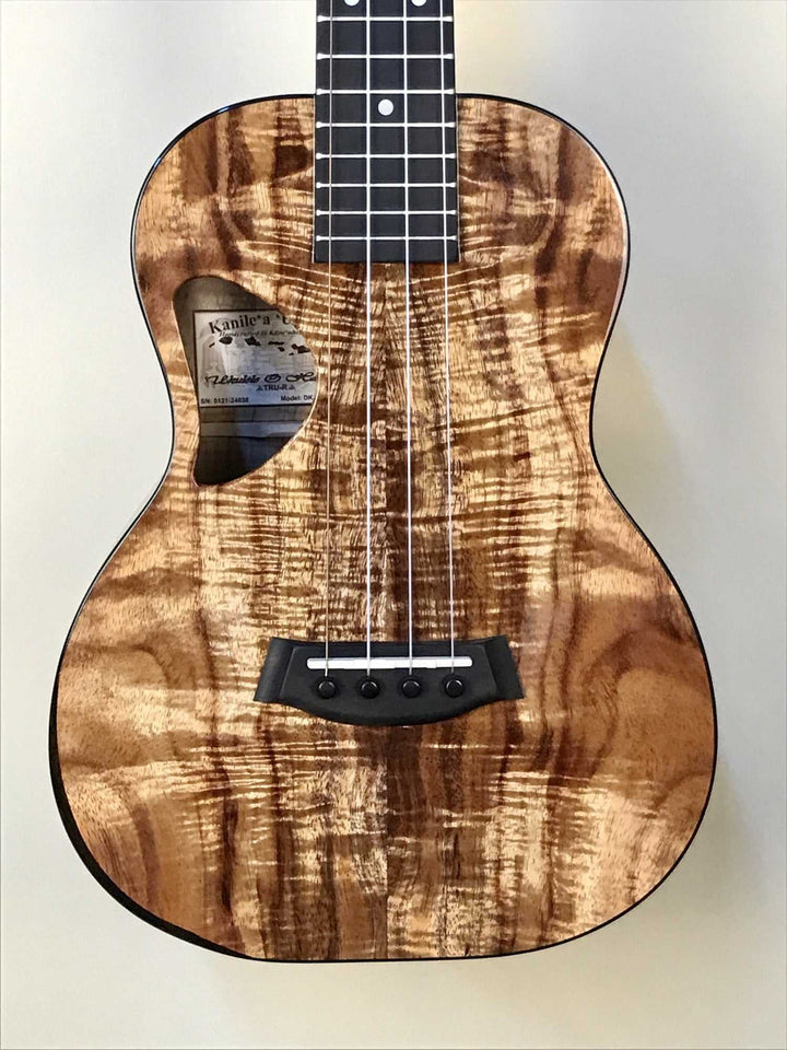 Kanile'a Premium Koa Tenor Ukulele with Low G, TRU-R Bracing and Case, Model DK-T PREM - Island Bazaar Ukes