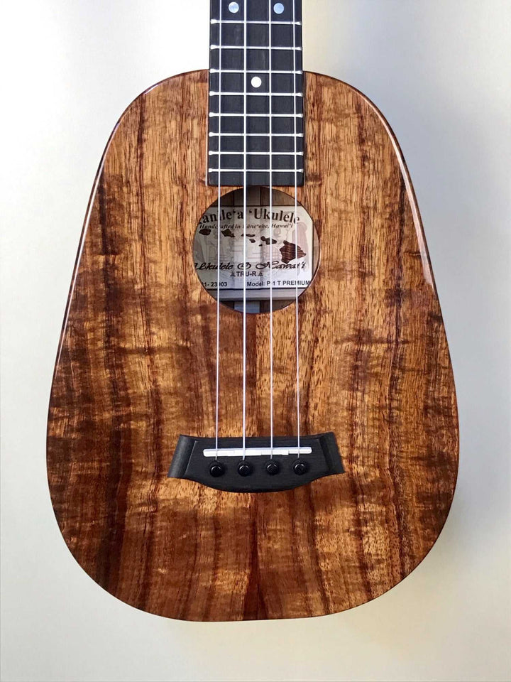 Kanile'a Premium Koa Body Pineapple Tenor Ukulele and Case Model P-1 T PREM - Island Bazaar Ukes
