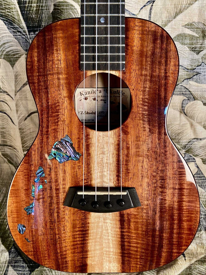 Kanile'a HAWAIIAN ISLANDS Series Premium Koa Tenor Ukulele Model ISL T - Island Bazaar Ukes