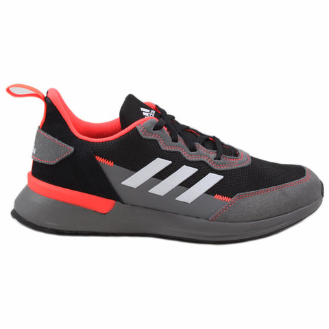 Adidas Damen Sneaker RapidaRun Elite Black/Grey-Solar Red EG6911