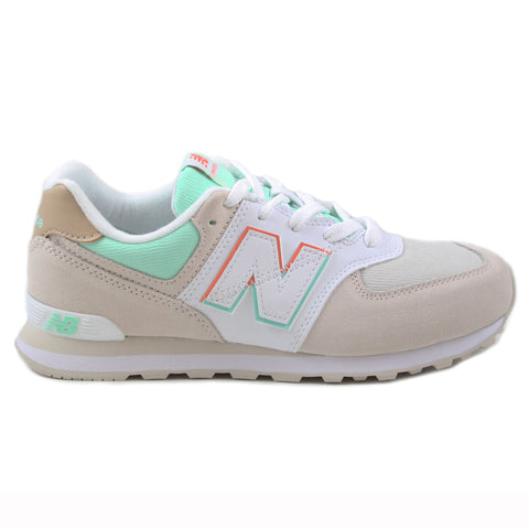 New Balance Damen Sneaker GC574SCE Beige/White-Mint