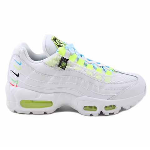 Nike Damen Sneaker Air Max 95 SE WW White/White-Volt-Blue Fury