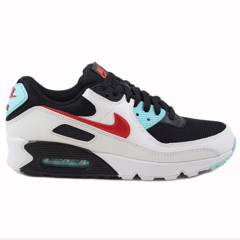 Nike Herren Sneaker Air Max 90 Summt White/Chile Red