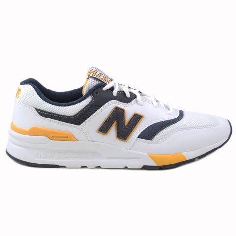 New Balance Herren Sneaker CM997HDL White/Navy-Yellow