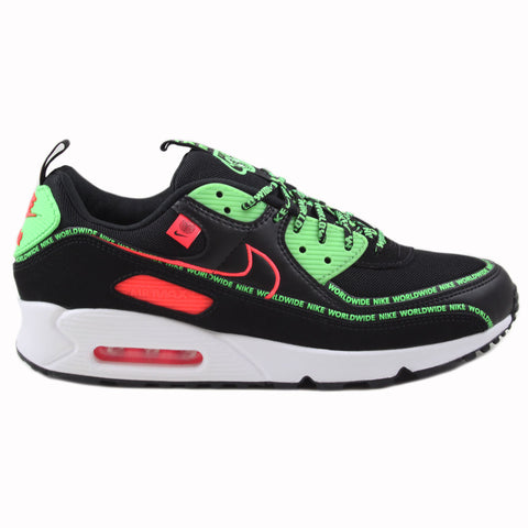 Nike Herren Sneaker Air Max 90 SE WW Black/Flash Crimson