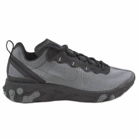 Nike Herren Sneaker React Element 55 SE Black/Dark Grey