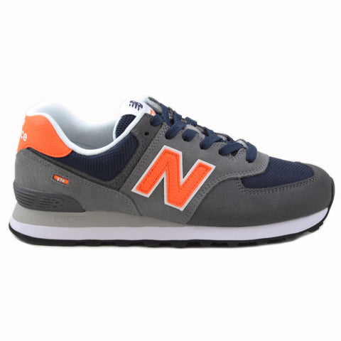 New Balance Herren Sneaker ML574EAF Grey/Navy-Orange
