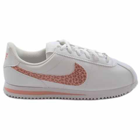 Nike Kinder Sneaker Classic Cortez Basic SL Wht/Coral Stardust-Pnk