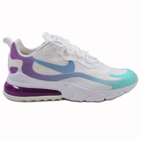 Nike Herren Sneaker Air Max 270 React Wht/Light Blue-Aurora Grn
