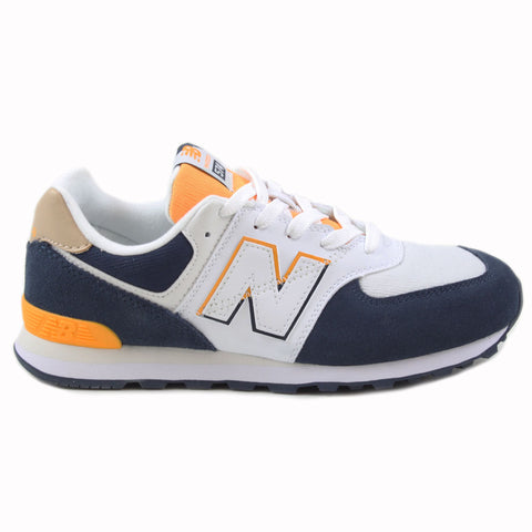 New Balance Damen Sneaker GC574SUR White/Navy-Yellow