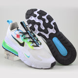 Nike Herren Sneaker Air Max 270 React WW White/Black-Blue Fury-Volt