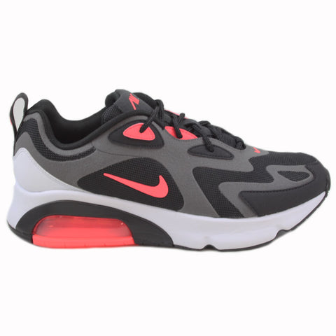 Nike Herren Sneaker Air Max 200 Thunder Grey/Hot Punch-Black