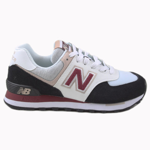 New Balance Damen Sneaker WL574VAA White/Black-Burgundy
