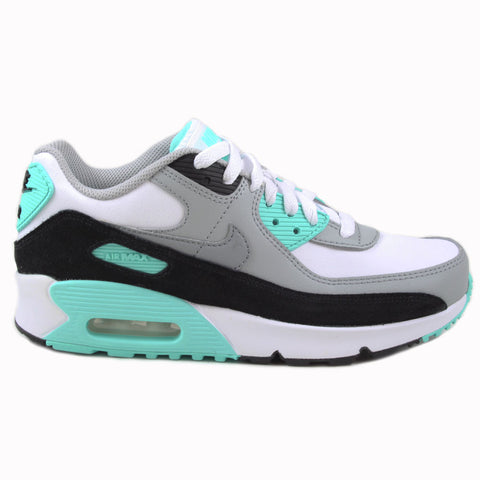 Nike Damen/Kinder Sneaker Air Max 90 LTR Wht/Particle Gry