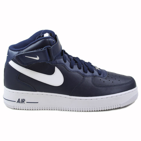 Nike Herren Sneaker Air Force 1 Mid ´07 AN20 Midnight Navy/White