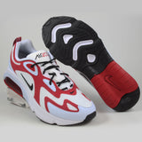 Nike Herren Sneaker Air Max 200 Wht/Blk-Gym Red-Half Blue