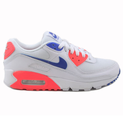 Nike Damen Sneaker Air Max 90 White/Racer Blue-Flash Crimson