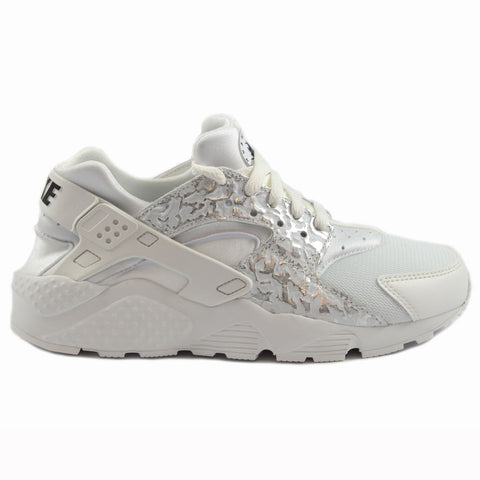 Nike Damen Sneaker Air Huarache Run SE Summt Wht/Mtlc Slvr