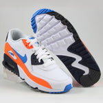 Nike Damen Sneaker Air Max 90 LTR Wht/Photo Blue -Total Orng
