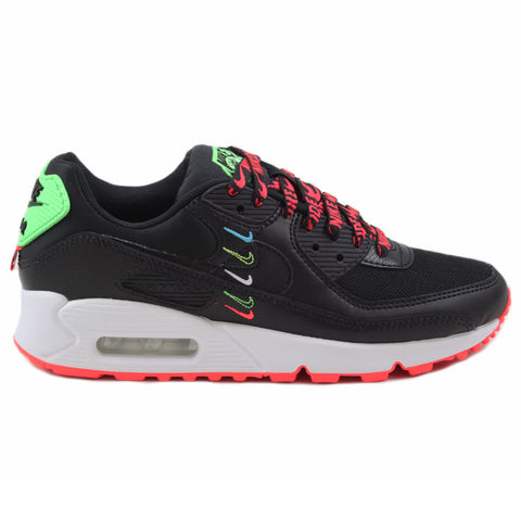 Nike Damen Sneaker Air Max 90 WW Black/Black-Flash Crimson