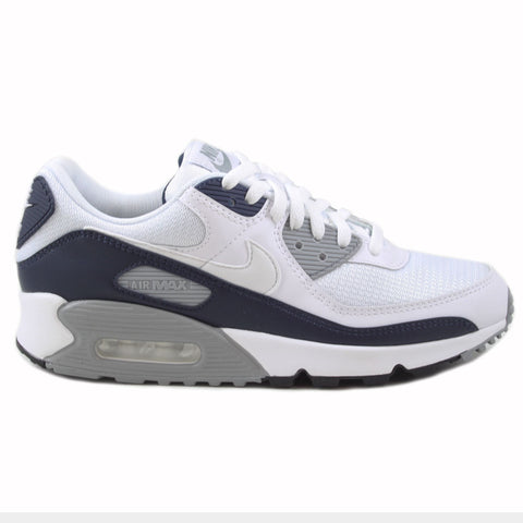 Nike Herren Sneaker Air Max 90 White/White-Particle Grey
