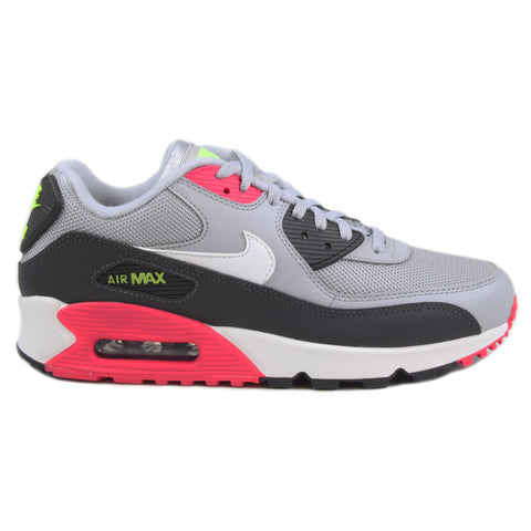 Nike Damen Sneaker Air Max 90 Wolf Grey/White-Rush Pink-Volt
