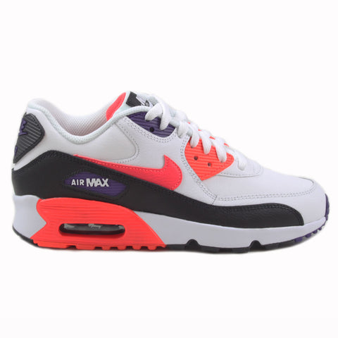 Nike Damen Sneaker Air Max 90 LTR Wht/Bright Crimson-Blk
