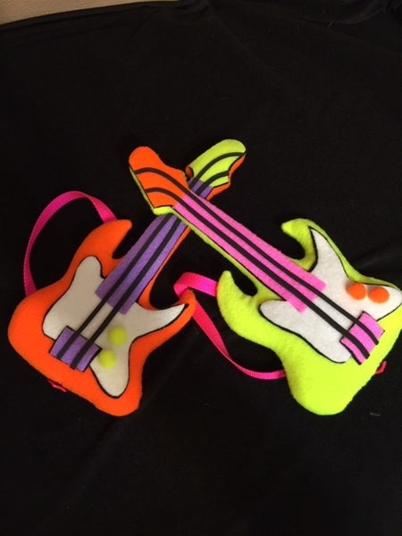 blacklight electric guitar puppet prop