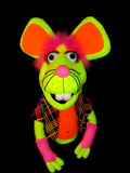 Blacklight Lady D Mouse Puppet