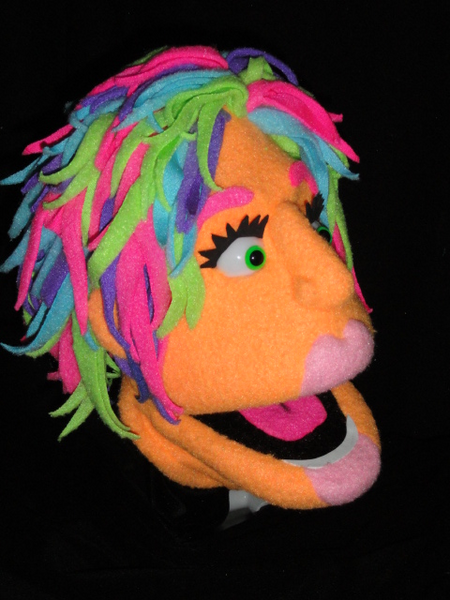Blacklight Just A Head Cerise puppet