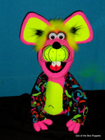 Blacklight Charlotte Mouse Puppet