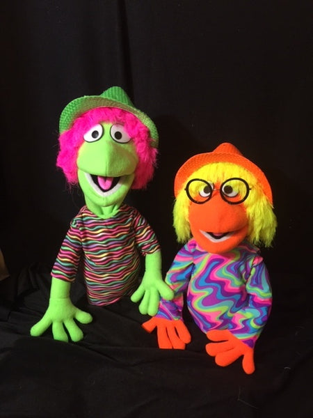 blacklight cuzzle puppets