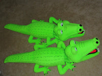 Blacklight alligator puppet