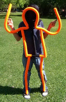 blacklight string bean puppet orange