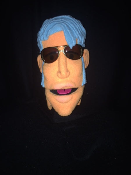 blacklight just a head elvis puppet