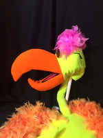 blacklight flamingo frank puppet walk about