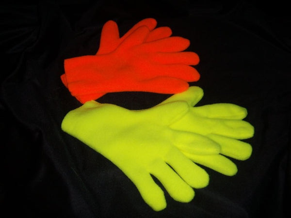 Blacklight Orange and Yellow Gloves