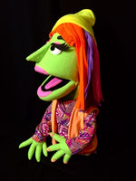 Side view blacklight Trina puppet green