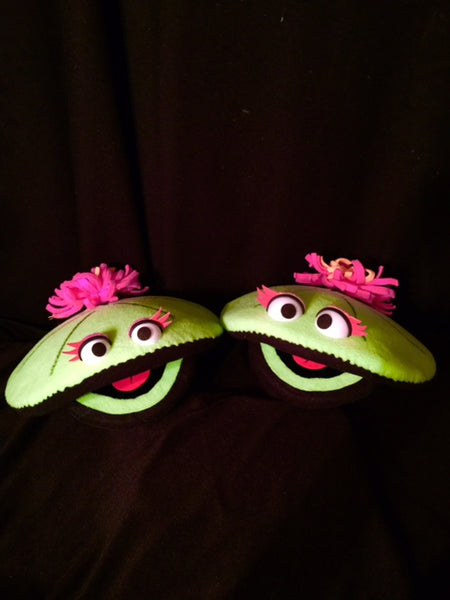 blacklight lilly pad puppets