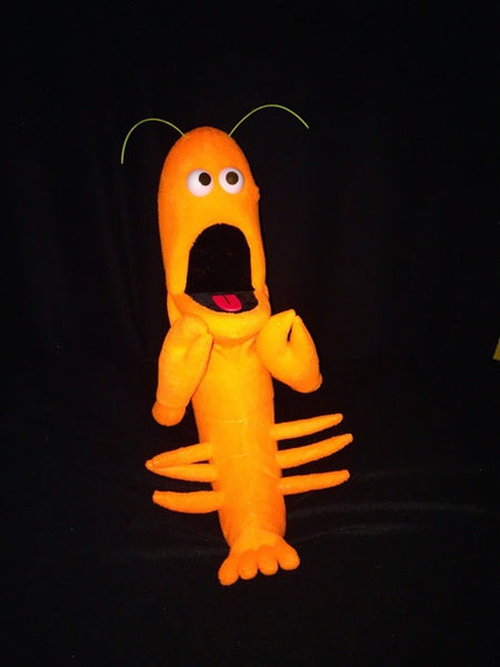 blacklight lobster puppet orange surprise