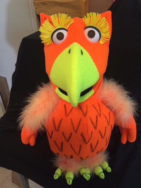 blacklight owl puppet