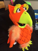 Owl puppet blacklight